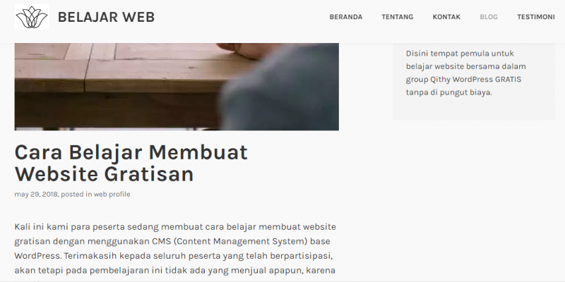 Cara Posting Menu Post atau Blog Pada WordPress