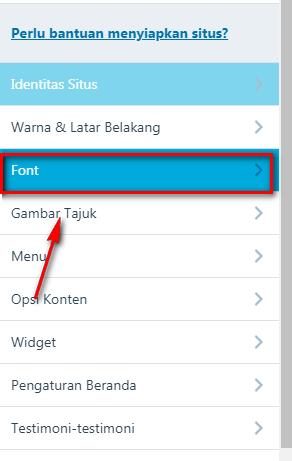 Memilih Font WordPress