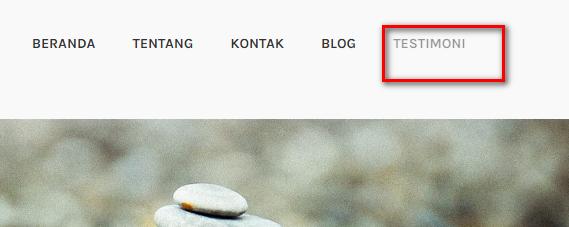 Cara Posting Menu Page atau Halaman Pada WordPress